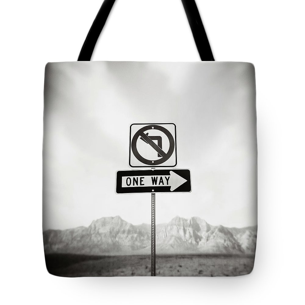 Non-urban Scene Tote Bag featuring the photograph Directional Signs by David Madison