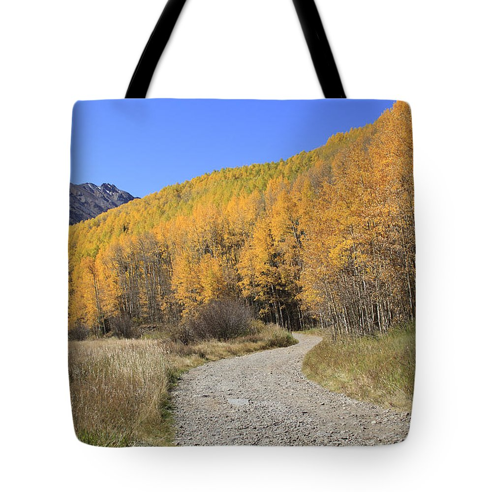 Scenics Tote Bag featuring the photograph Dirt Road In The Elk Mountains, Colorado by John Kieffer