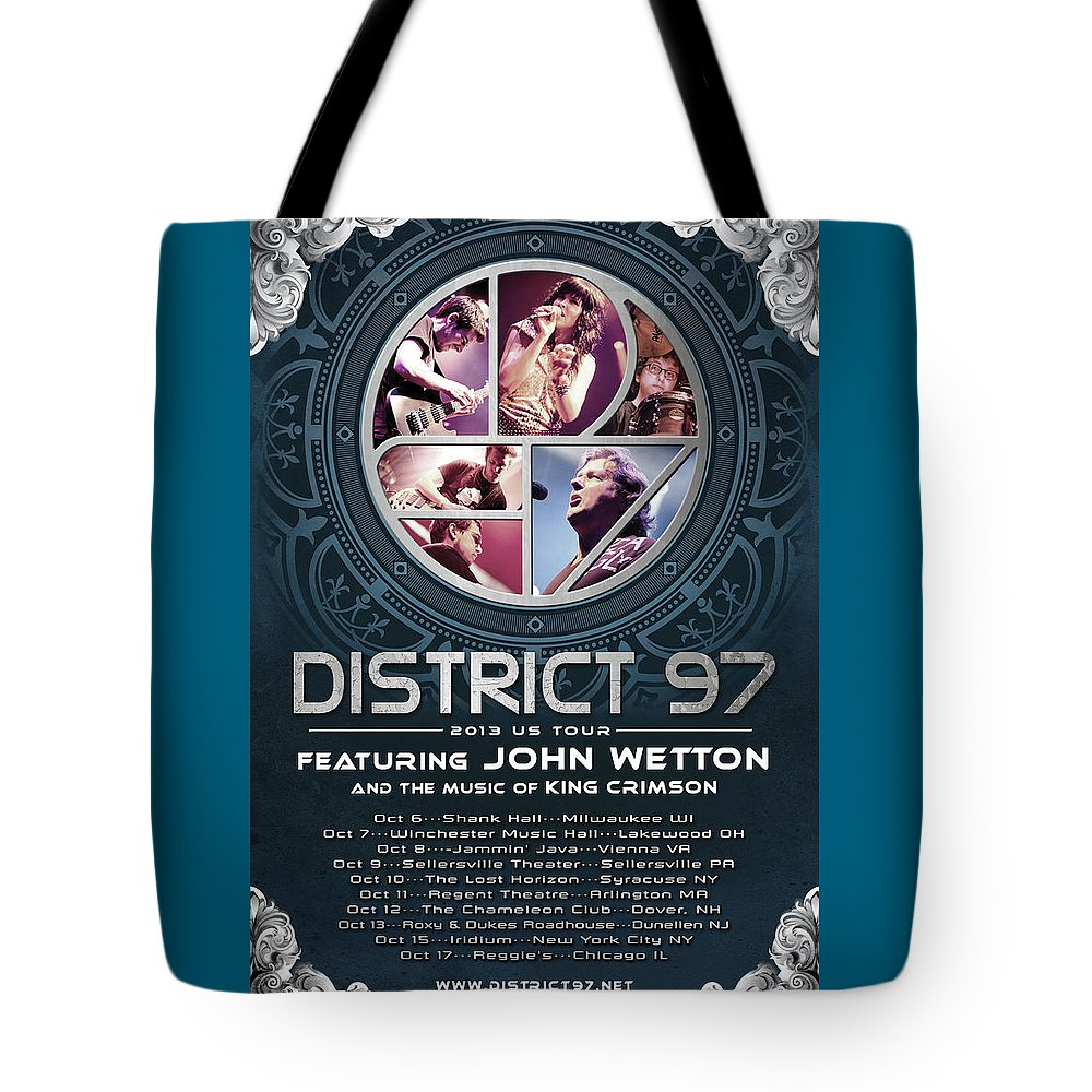 Tote Bag featuring the digital art District 97/John Wetton US Tour by District 97