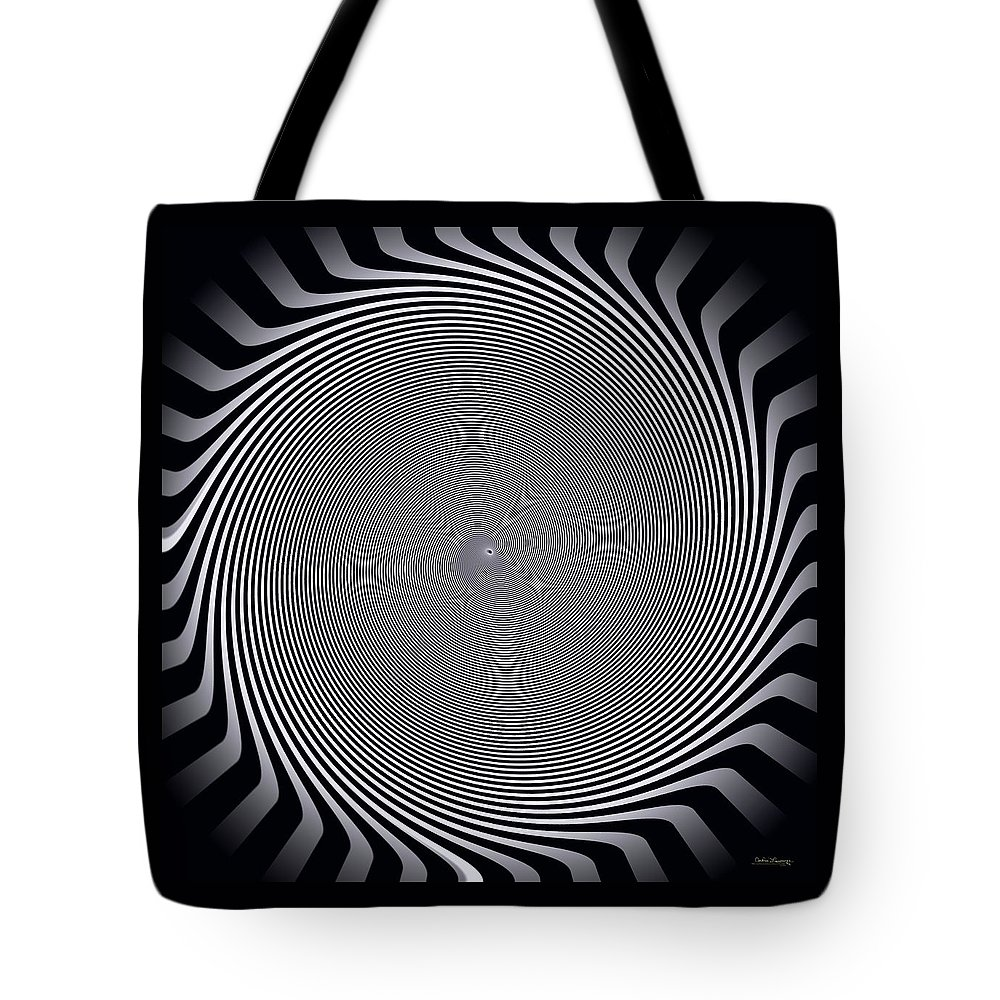 Abstract Tote Bag featuring the digital art Dizzy Feelings by Andrea Lawrence
