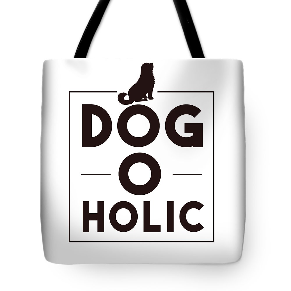 Dogoholic Tote Bag featuring the digital art Dogoholic by Passion Loft