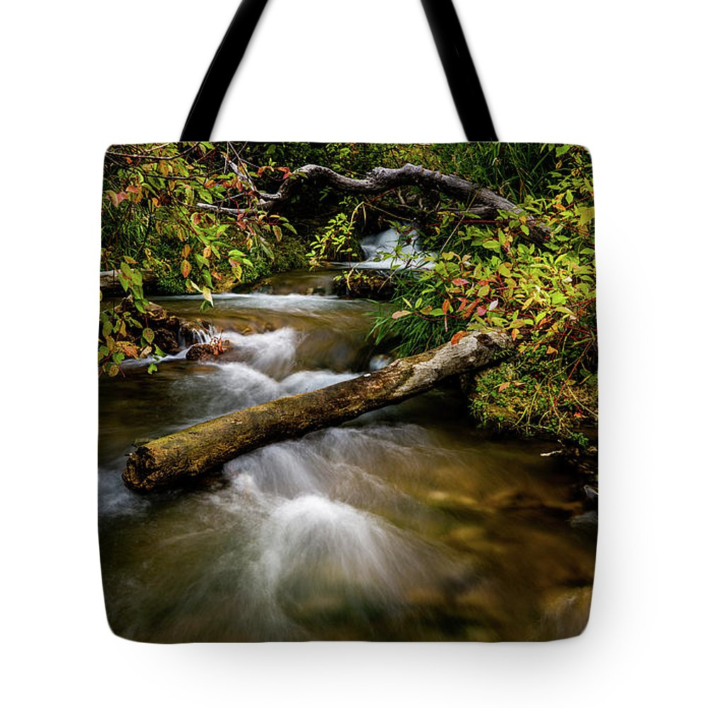 Dogwood Tote Bag featuring the photograph Dogwoods Along The Provo Deer Creek by TL Mair