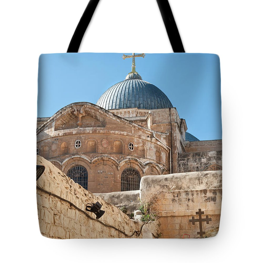 Built Structure Tote Bag featuring the photograph Dome Of The Church Holy Sepulchre by Kazakov