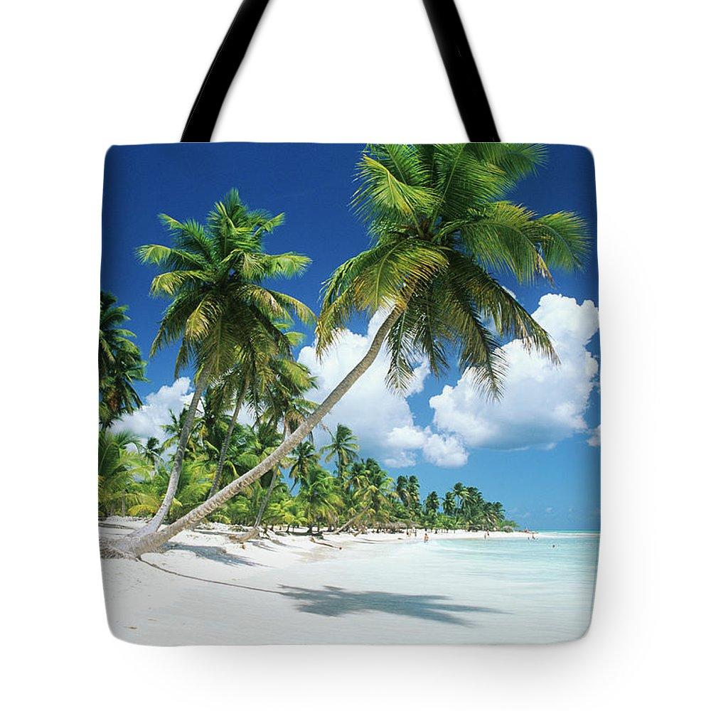 Scenics Tote Bag featuring the photograph Dominican Republic, Saona Island, Palm by Stefano Stefani