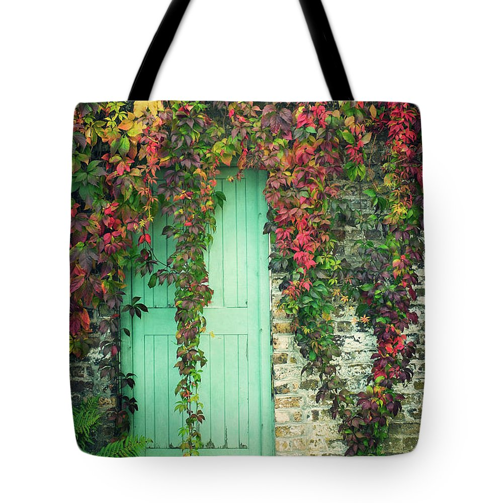 Tranquility Tote Bag featuring the photograph Door To The Secret Garden by Image By Catherine Macbride