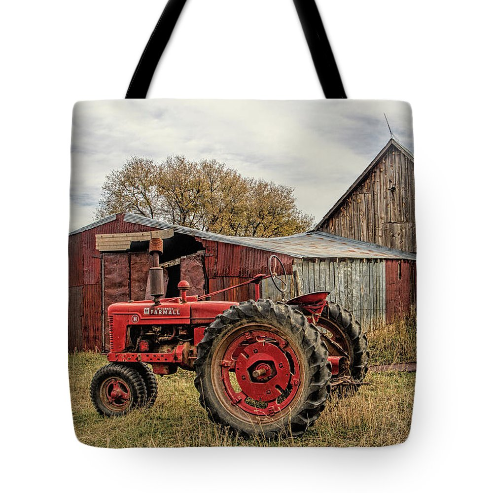 Tractor Tote Bag featuring the photograph Down on the Farm by Alana Thrower