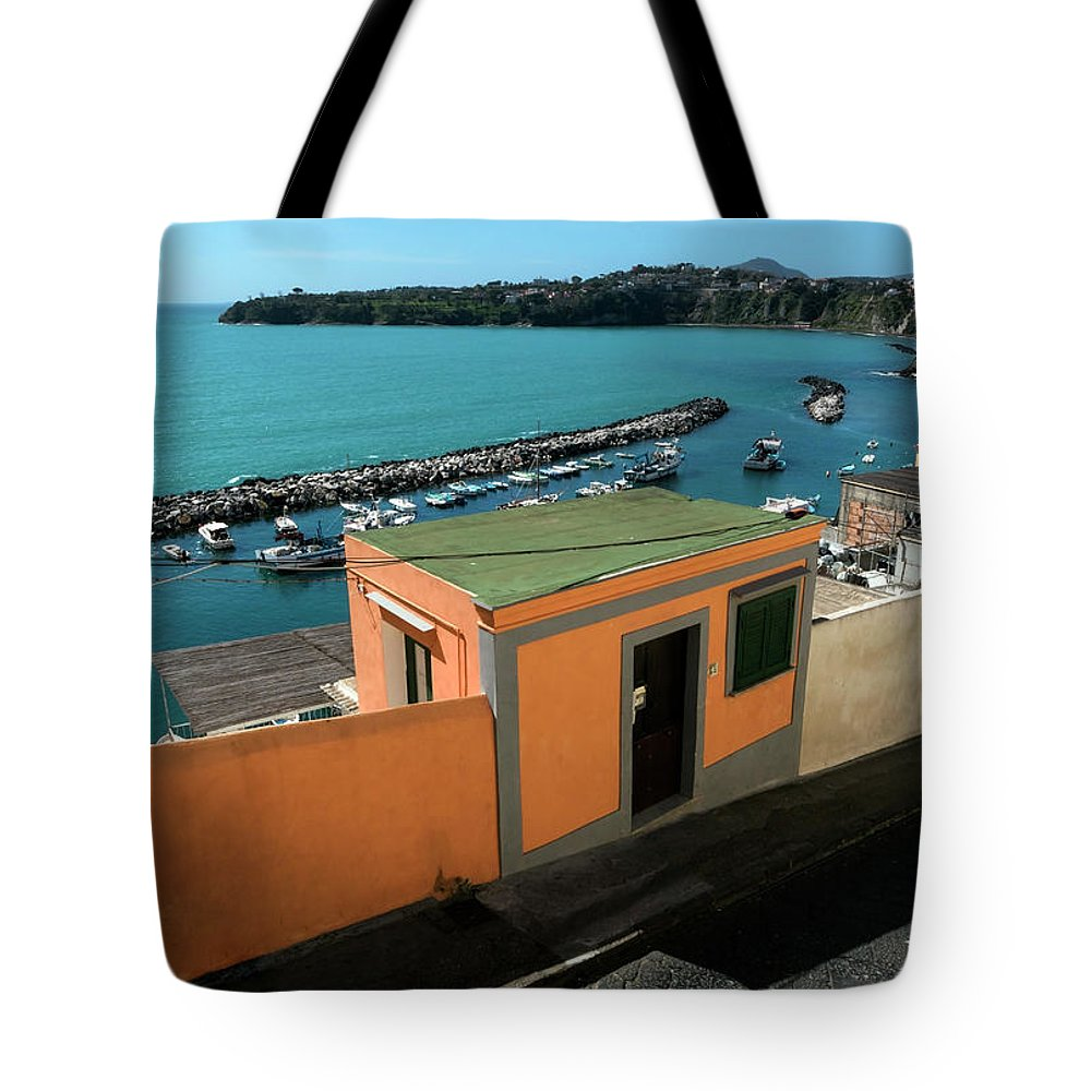 Procisa Tote Bag featuring the photograph Downhill To The Harbour by Claudio Maioli