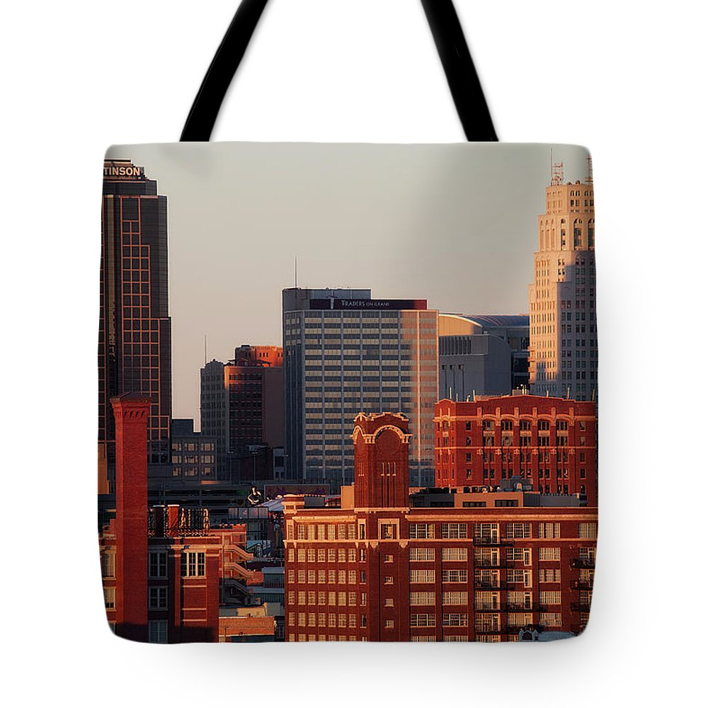 Downtown District Tote Bag featuring the photograph Downtown Kansas City by Eric Bowers Photo