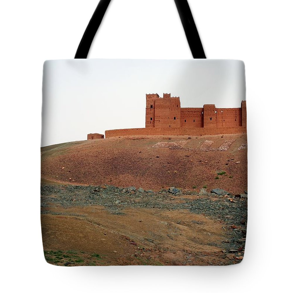 Ksar Tote Bag featuring the photograph Draa Valley Casbah by Robertogennaro