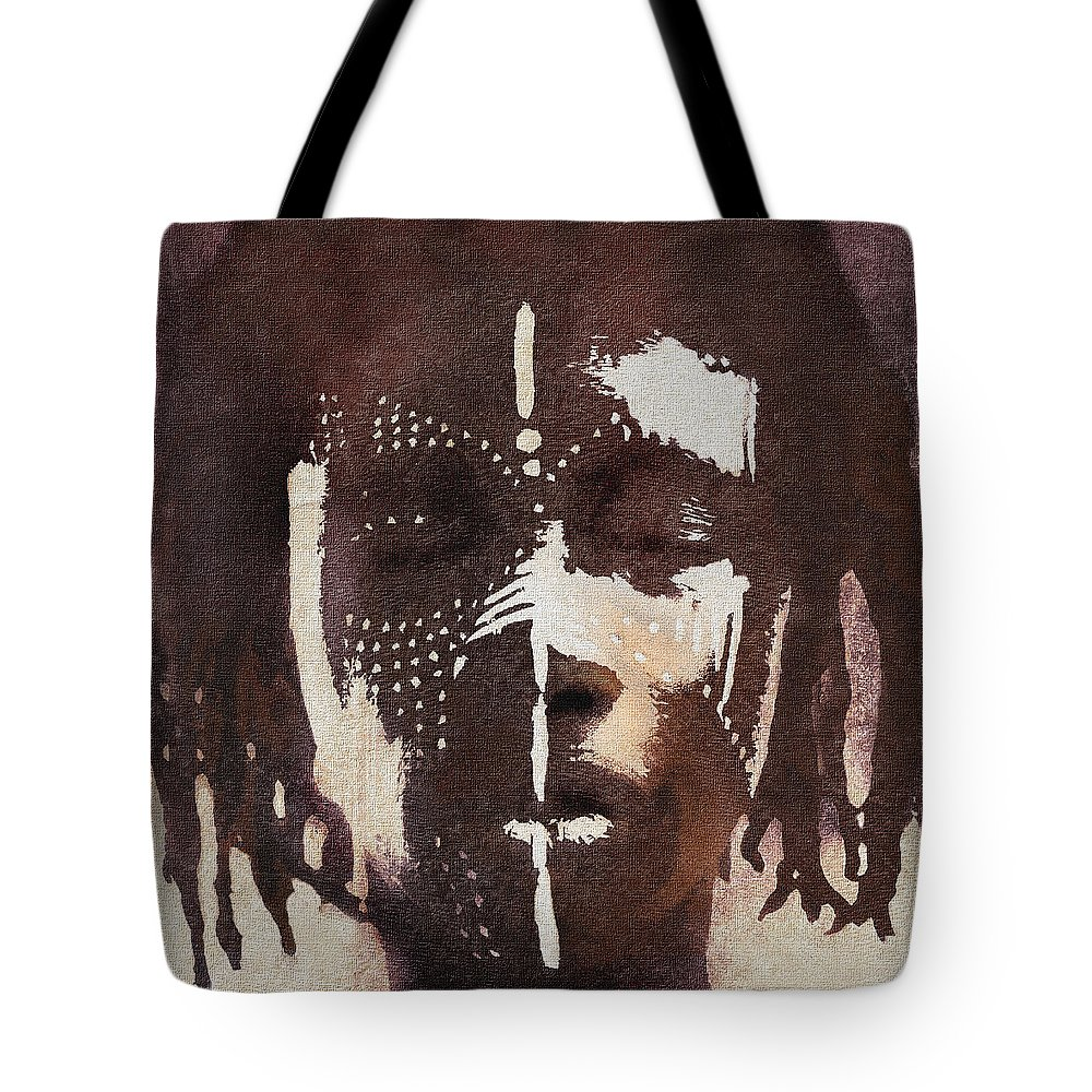 Face Paint Tote Bag featuring the digital art Dreams Of My Father by Regina Wyatt