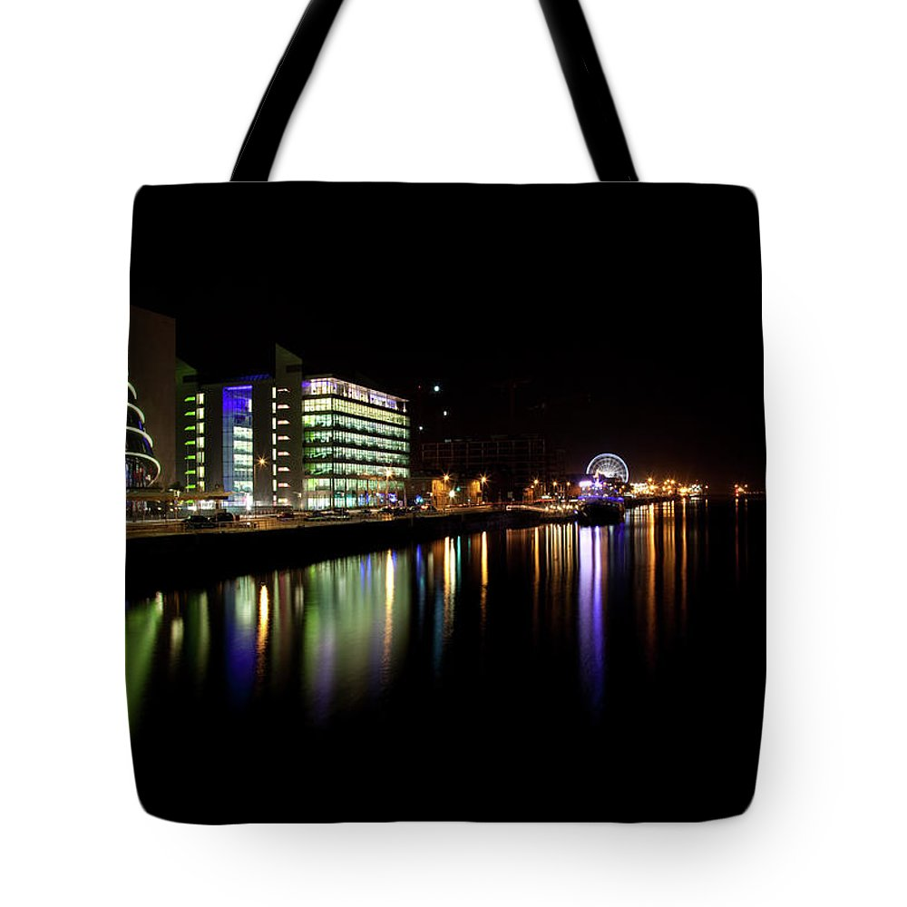 Dublin Tote Bag featuring the photograph Dublin City Along Quays by Image By Daniel King