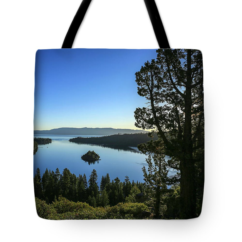 Early Morning Emerald Bay Tote Bag featuring the photograph Early Morning Emerald Bay by Lynn Hopwood
