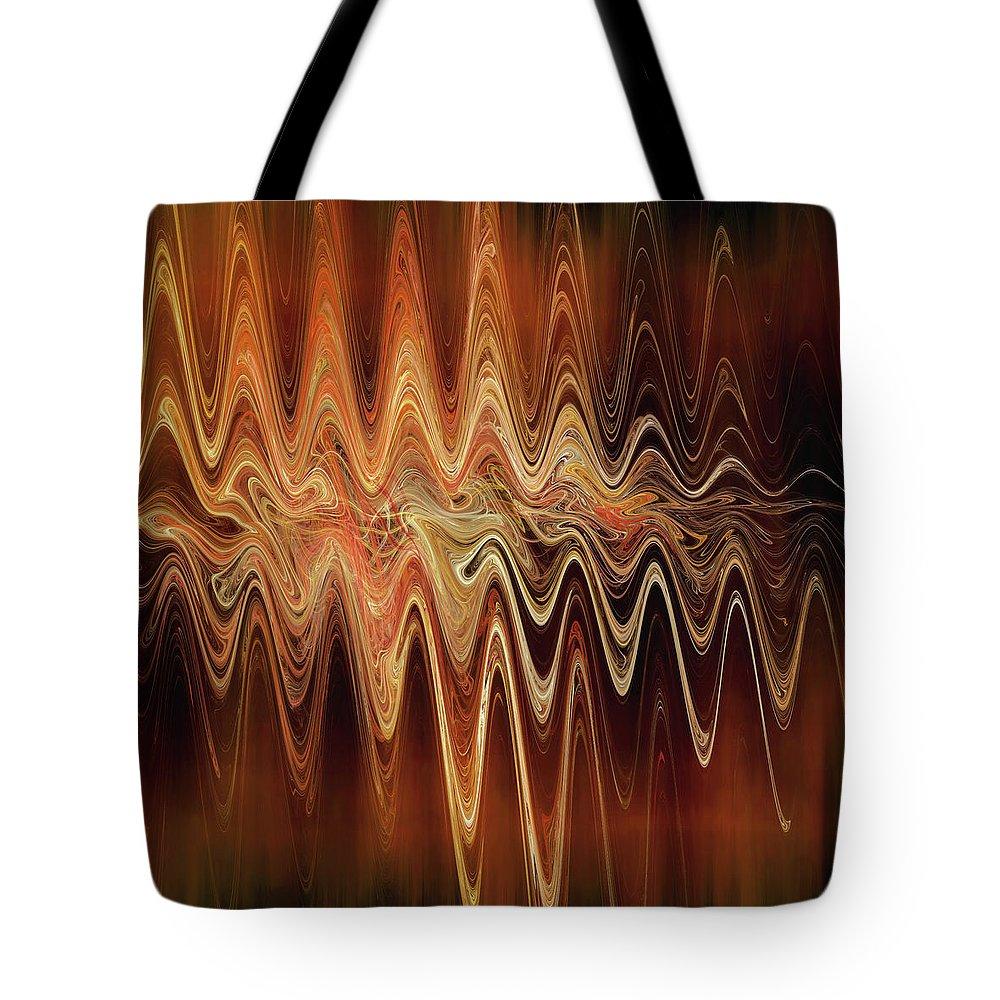 Earth Tote Bag featuring the digital art Earth Frequency by Menega Sabidussi