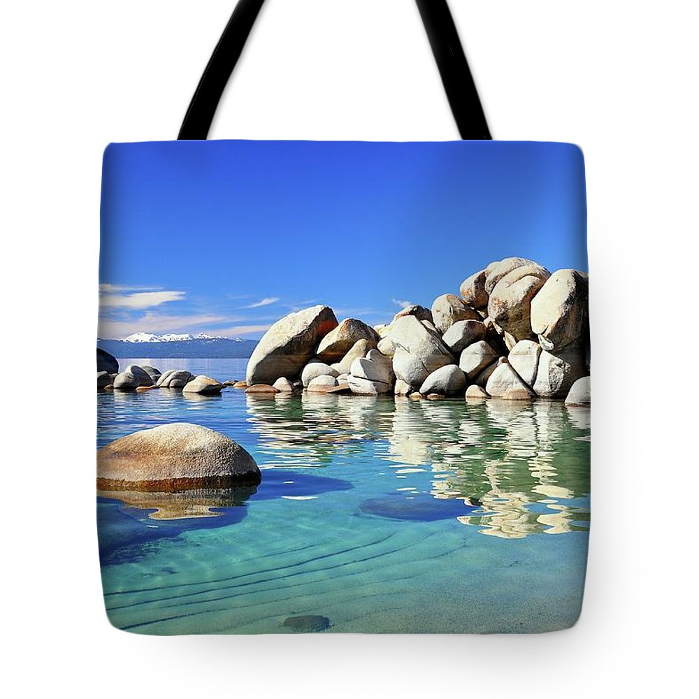 Tranquility Tote Bag featuring the photograph East Shore, Lake Tahoe, Nv by Stevedunleavy.com