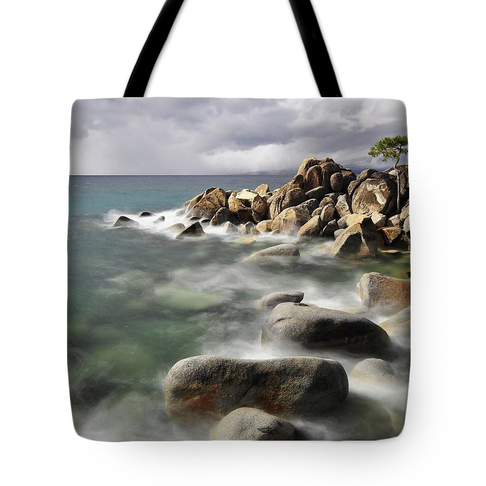Tranquility Tote Bag featuring the photograph East Shore, Lake Tahoe by Stevedunleavy.com