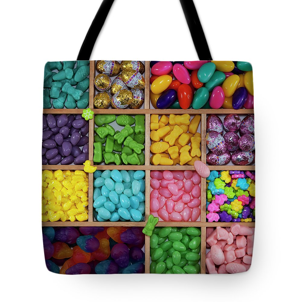 Unhealthy Eating Tote Bag featuring the photograph Easter Candies by Lisa Stokes