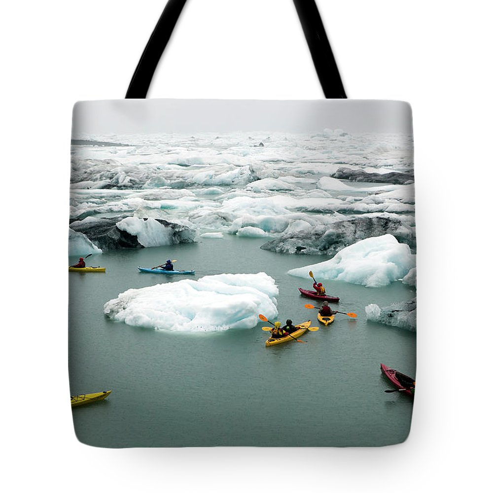 Eco Tourism Tote Bag featuring the photograph Ecotourism Prince William Sound Alaska by Kevin Miller