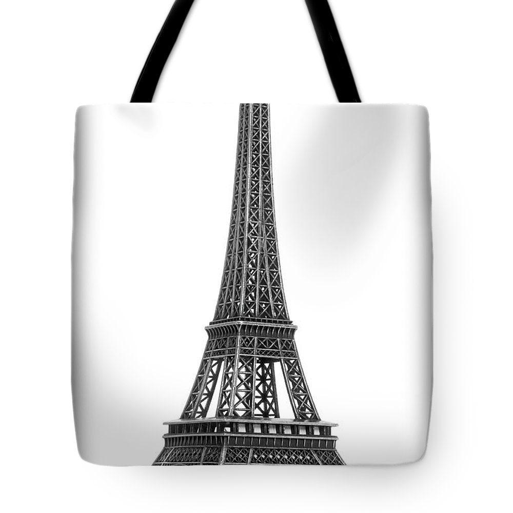 Architectural Model Tote Bag featuring the photograph Eiffel Tower by Jamesmcq24