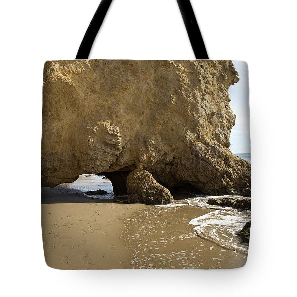 Rocky Tote Bag featuring the photograph El Matador State Beach by Alina Avanesian