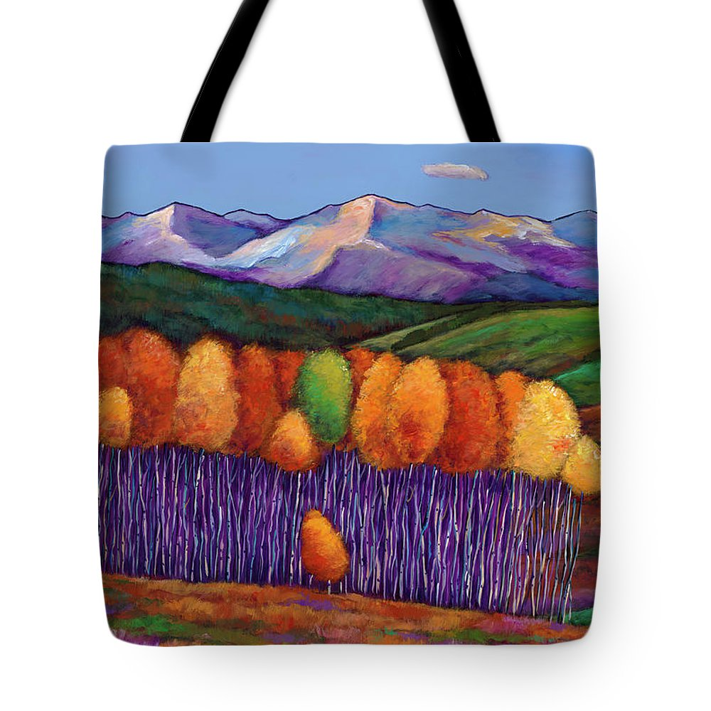 Aspen Trees Tote Bag featuring the painting Elysian by Johnathan Harris