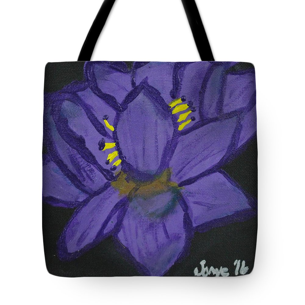 Abstract Tote Bag featuring the painting Enlighten by Sonye Locksmith