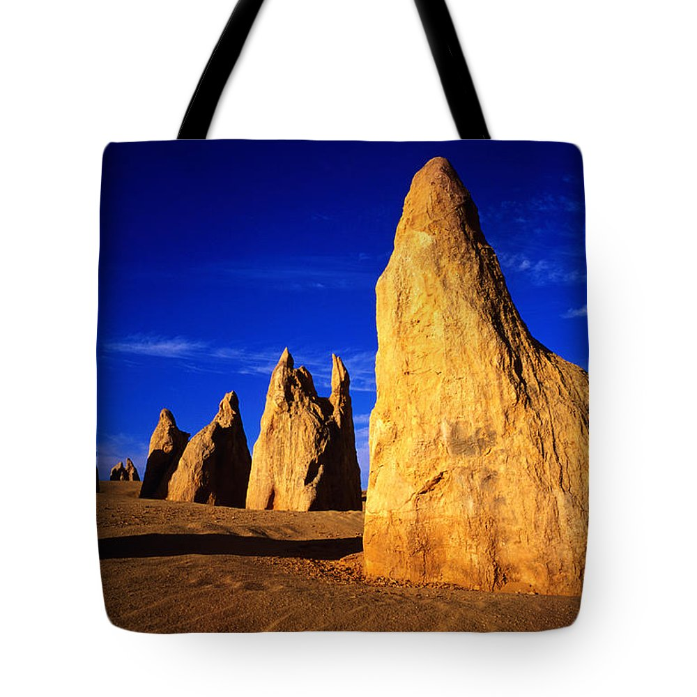 Toughness Tote Bag featuring the photograph Eroded Rock Formations, Pinnacles by John Banagan