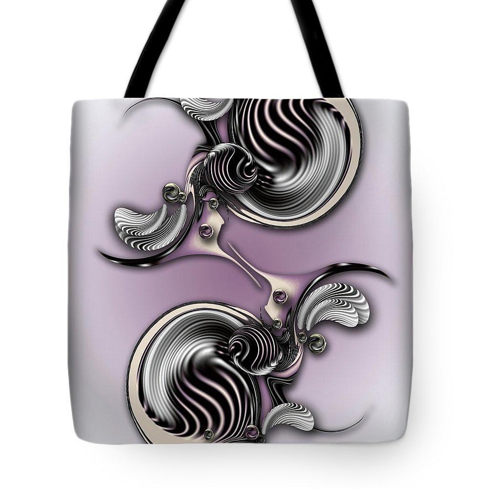 Creation Tote Bag featuring the digital art Essentialist Creation by Carmen Fine Art