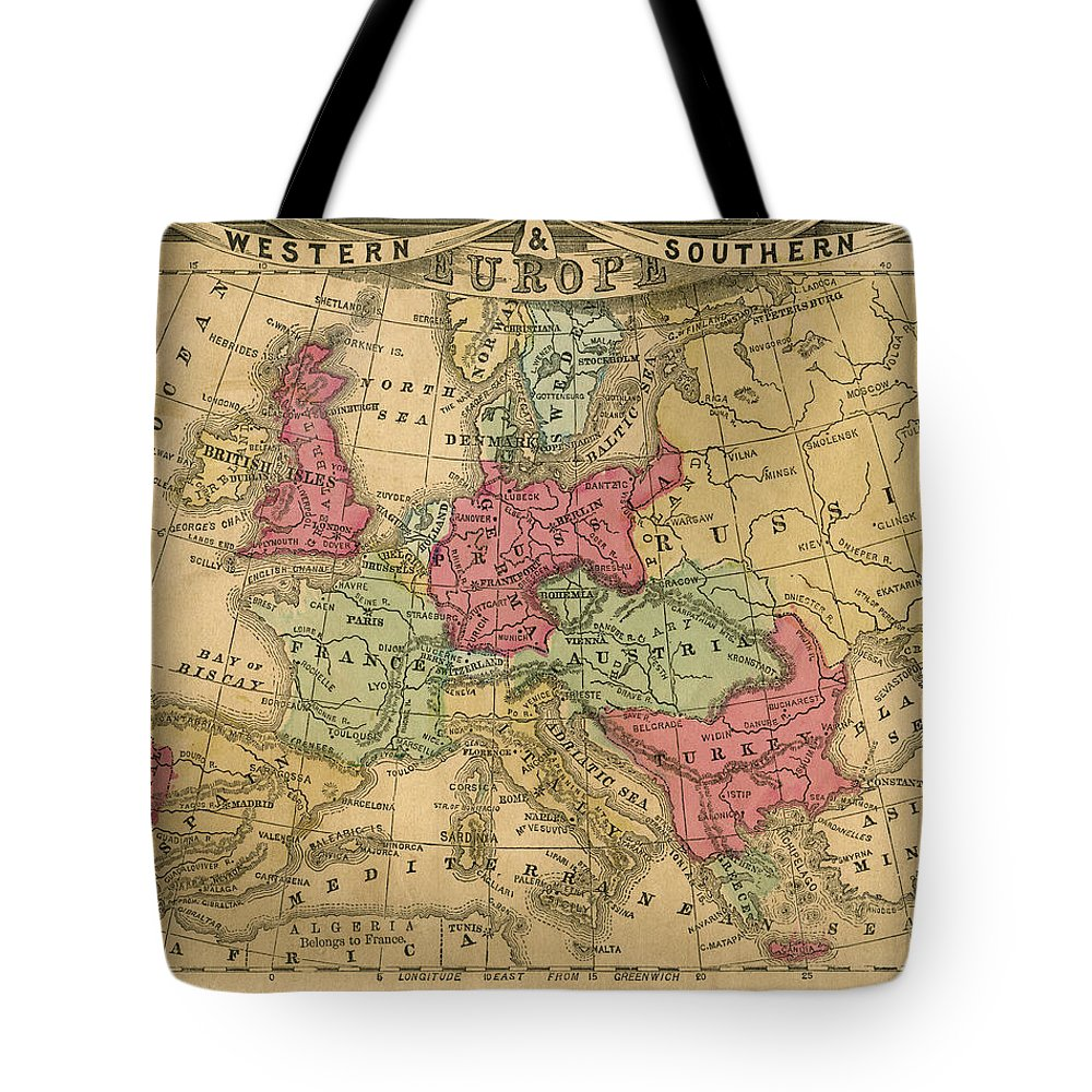 Greek Culture Tote Bag featuring the photograph Europe Map by Belterz