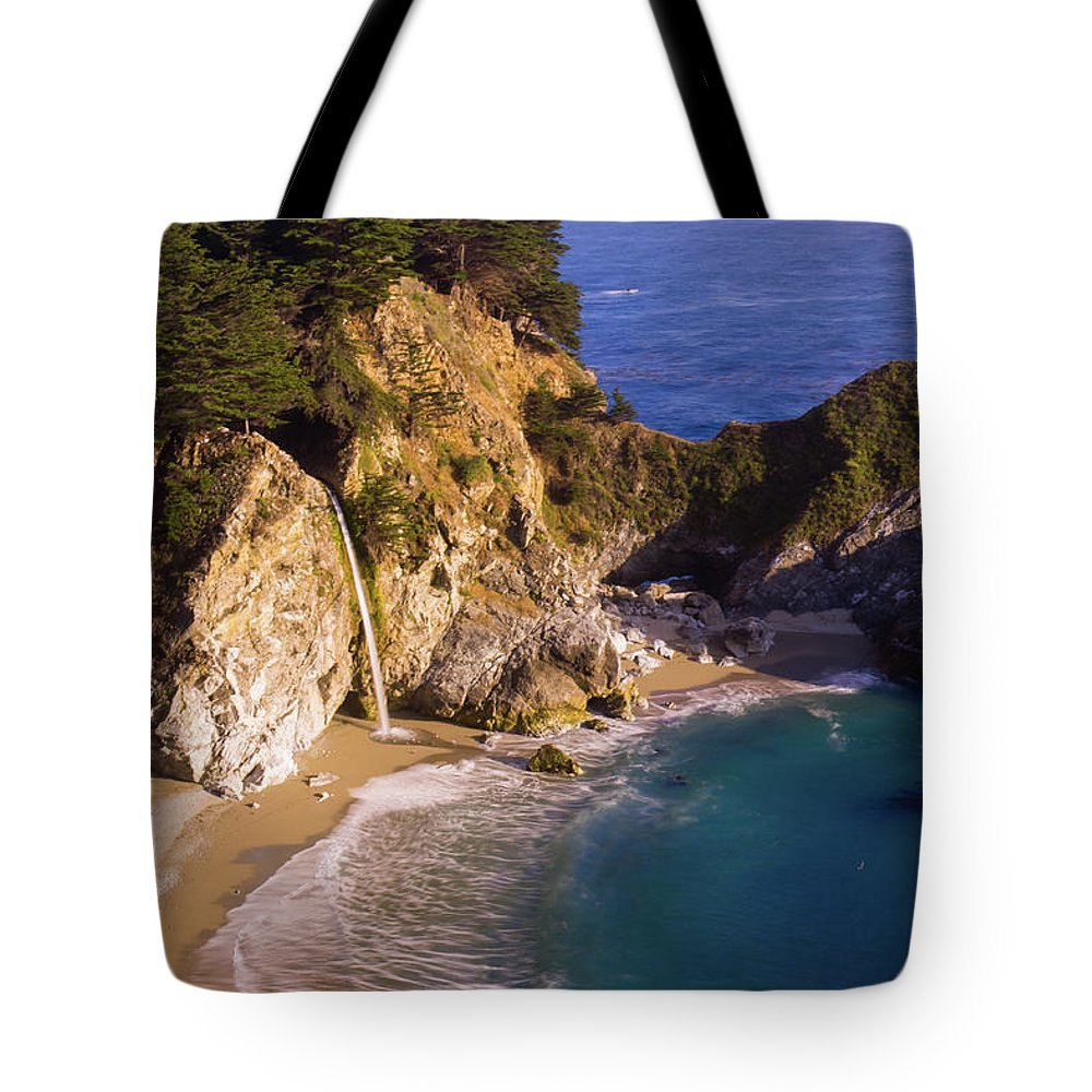 Tranquility Tote Bag featuring the photograph Evening At Mcway Falls by By Sathish Jothikumar