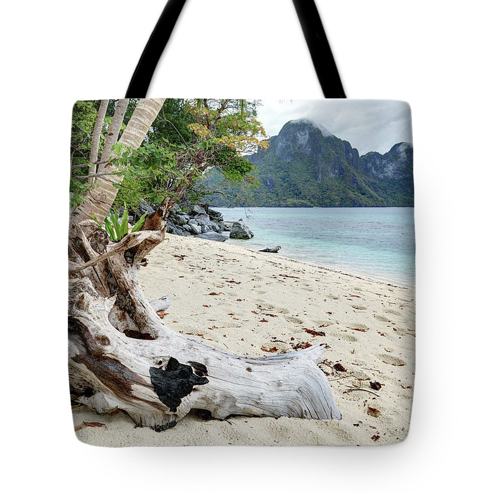 Water's Edge Tote Bag featuring the photograph Exotic Beach by Vuk8691