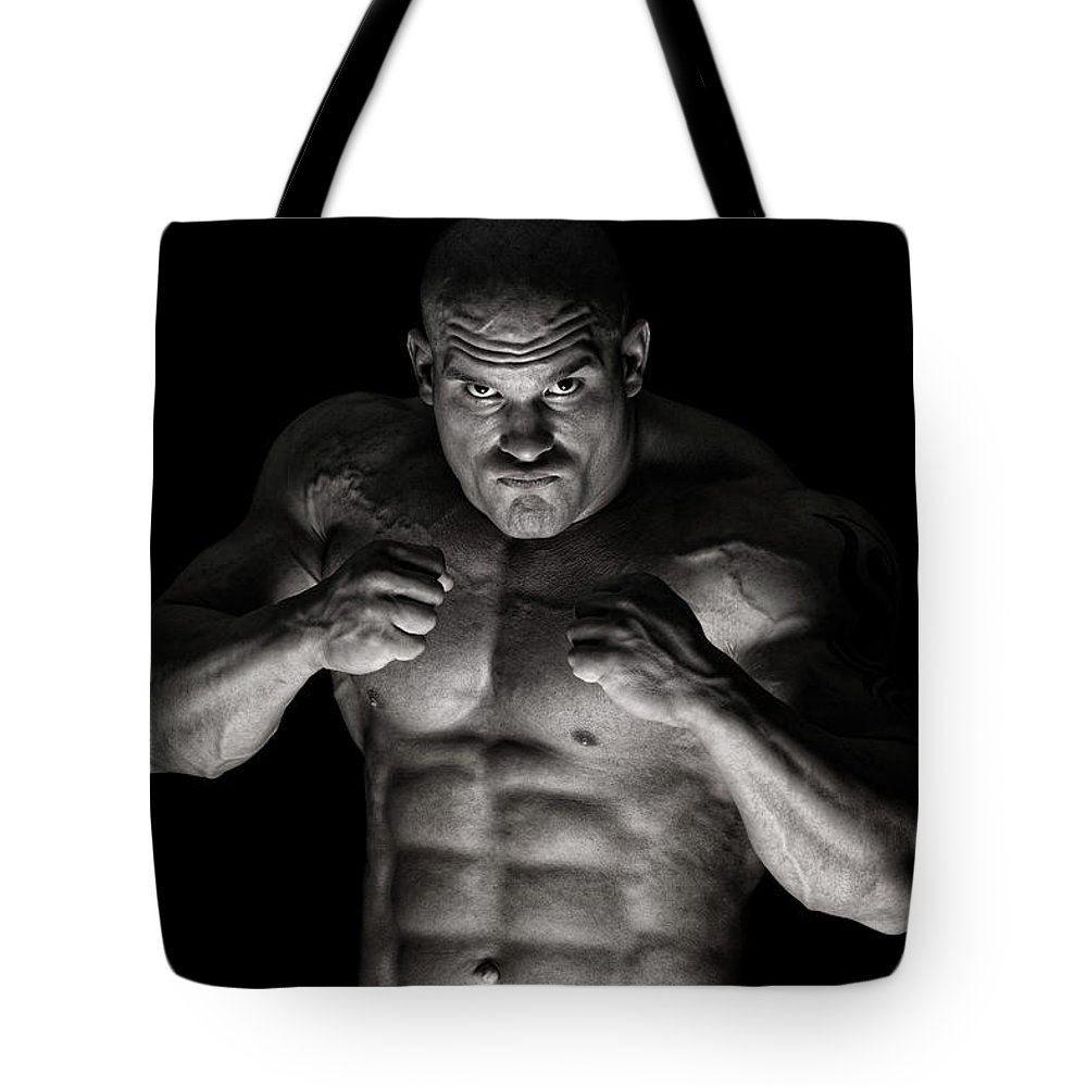 Toughness Tote Bag featuring the photograph Extreme Guy by Vuk8691