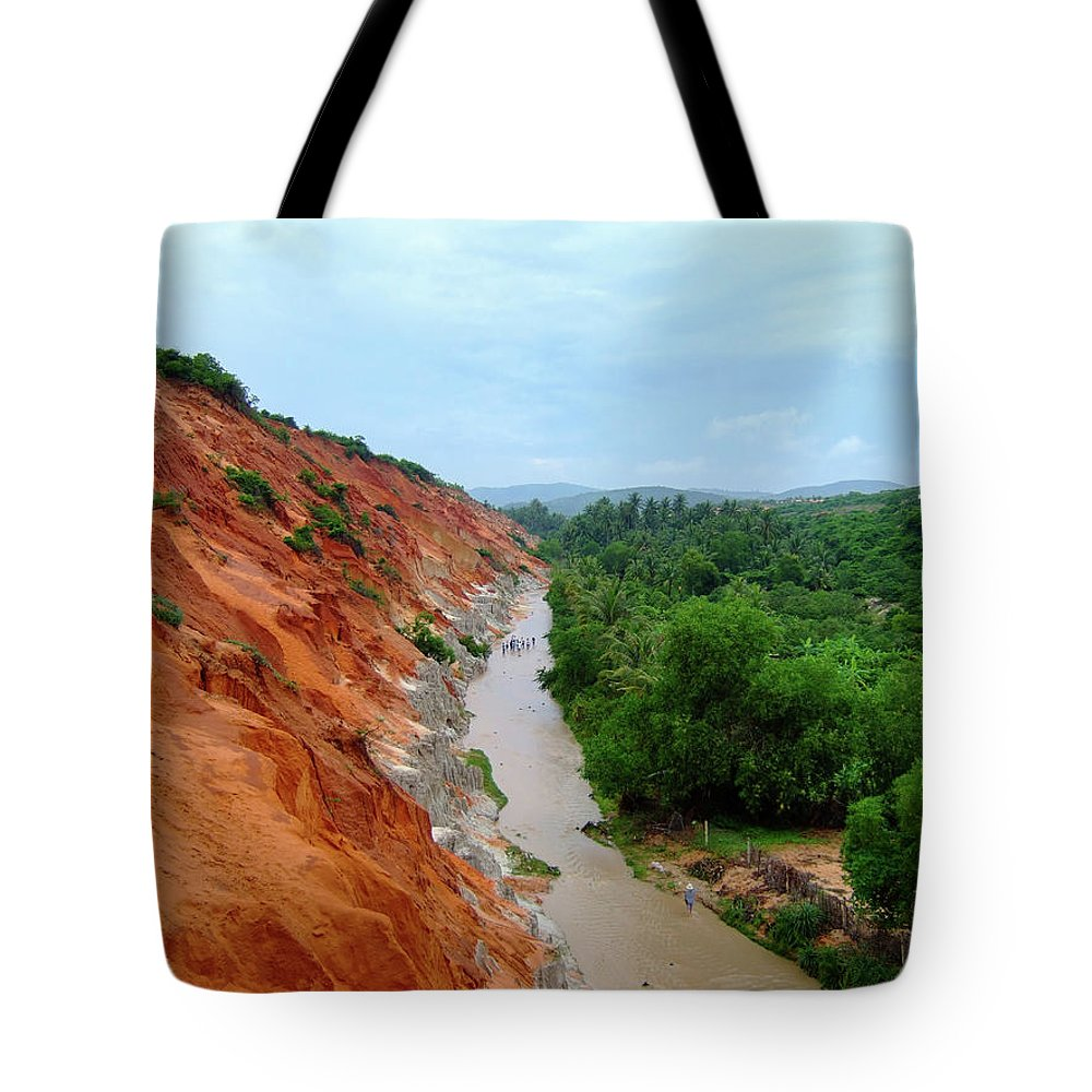 Tranquility Tote Bag featuring the photograph Fairy Springs In Mui Ne by Thomas Davis