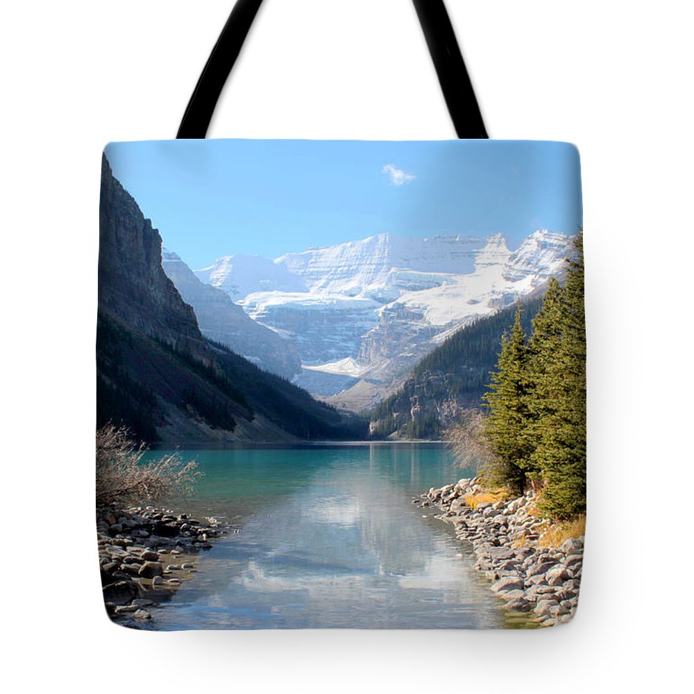 Tranquility Tote Bag featuring the photograph Fall At Lake Louise , Alberta, Canada by Cynthia Russell Photography