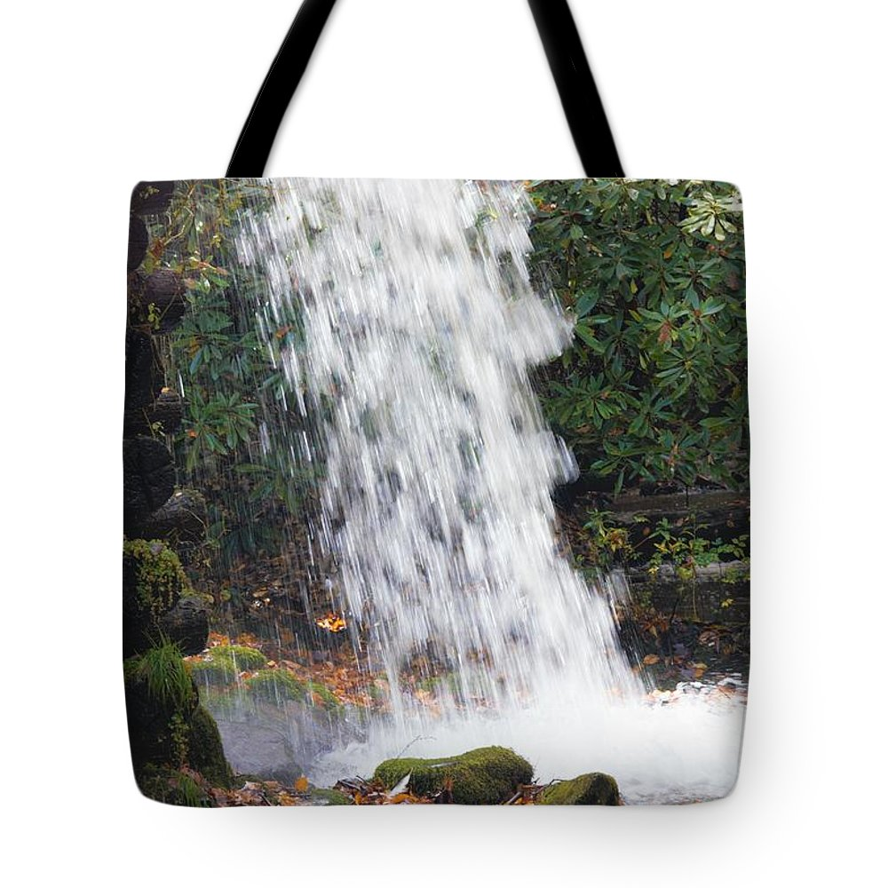 Smokies Tote Bag featuring the photograph Falling Water by Cynthia Mask