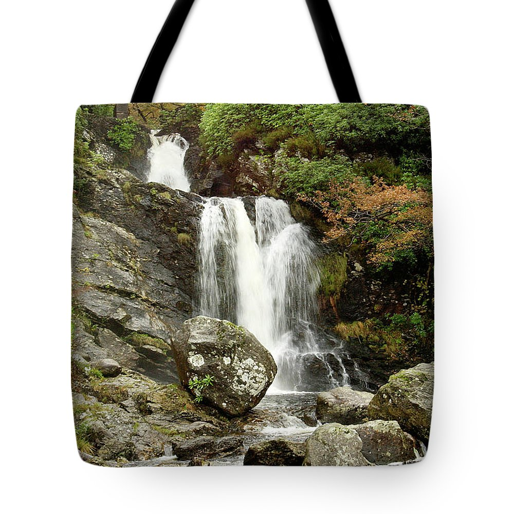 Autumn Tote Bag featuring the photograph Falls At Inversnaid In Autumn by Victor Lord Denovan