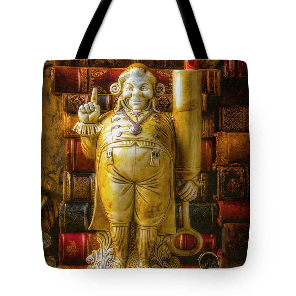Jolly Tote Bag featuring the photograph Fancy Pen Holder by Garry Gay