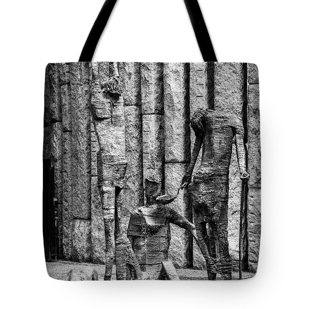 Dublin Tote Bag featuring the photograph Feeding The Hungry Two 2 by Bob Phillips