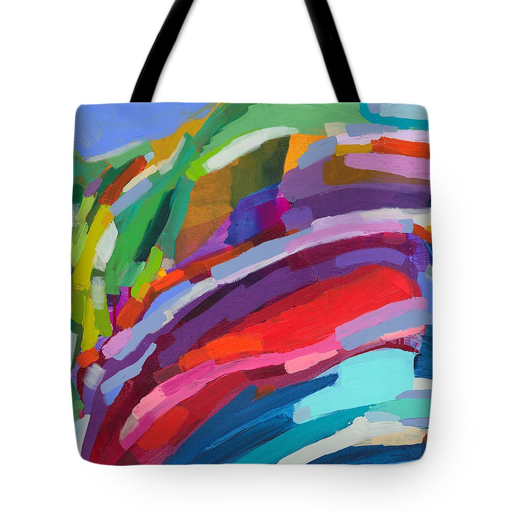 Abstract Tote Bag featuring the painting Felicity by Claire Desjardins