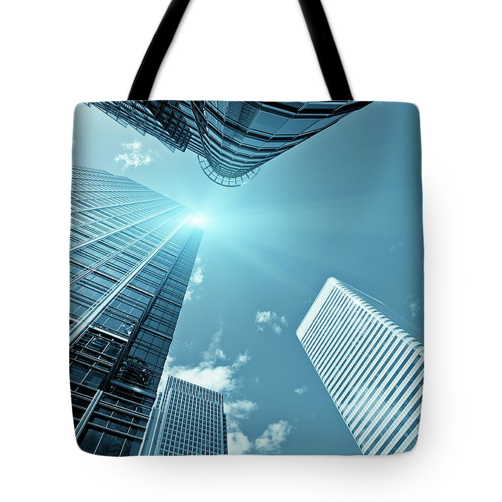 Working Tote Bag featuring the photograph Financial District, Canary Wharf In by Zodebala
