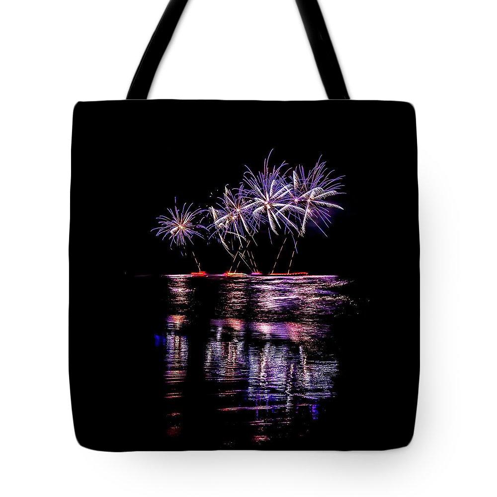 Australia Tote Bag featuring the photograph Fireworks Frenzy by Az Jackson