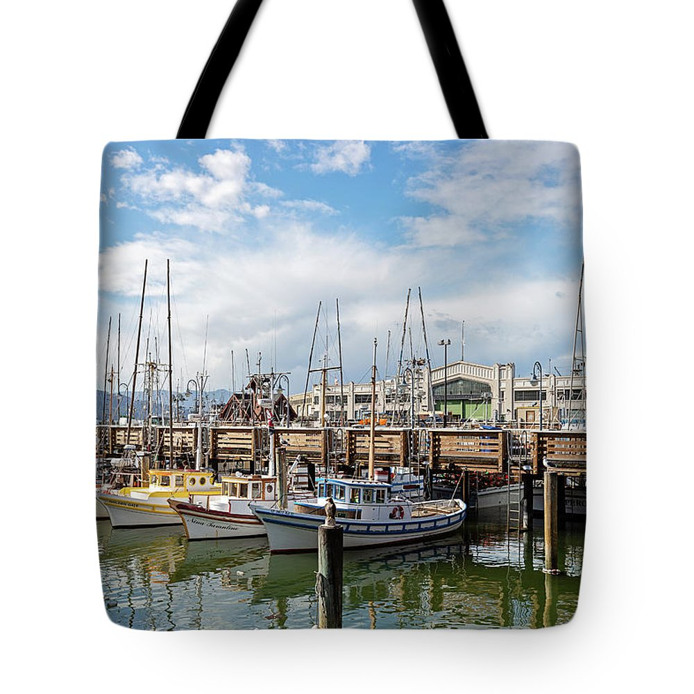 San Francisco Tote Bag featuring the photograph Fisherman's Wharf San Francisco California by Melanie Alexandra Price