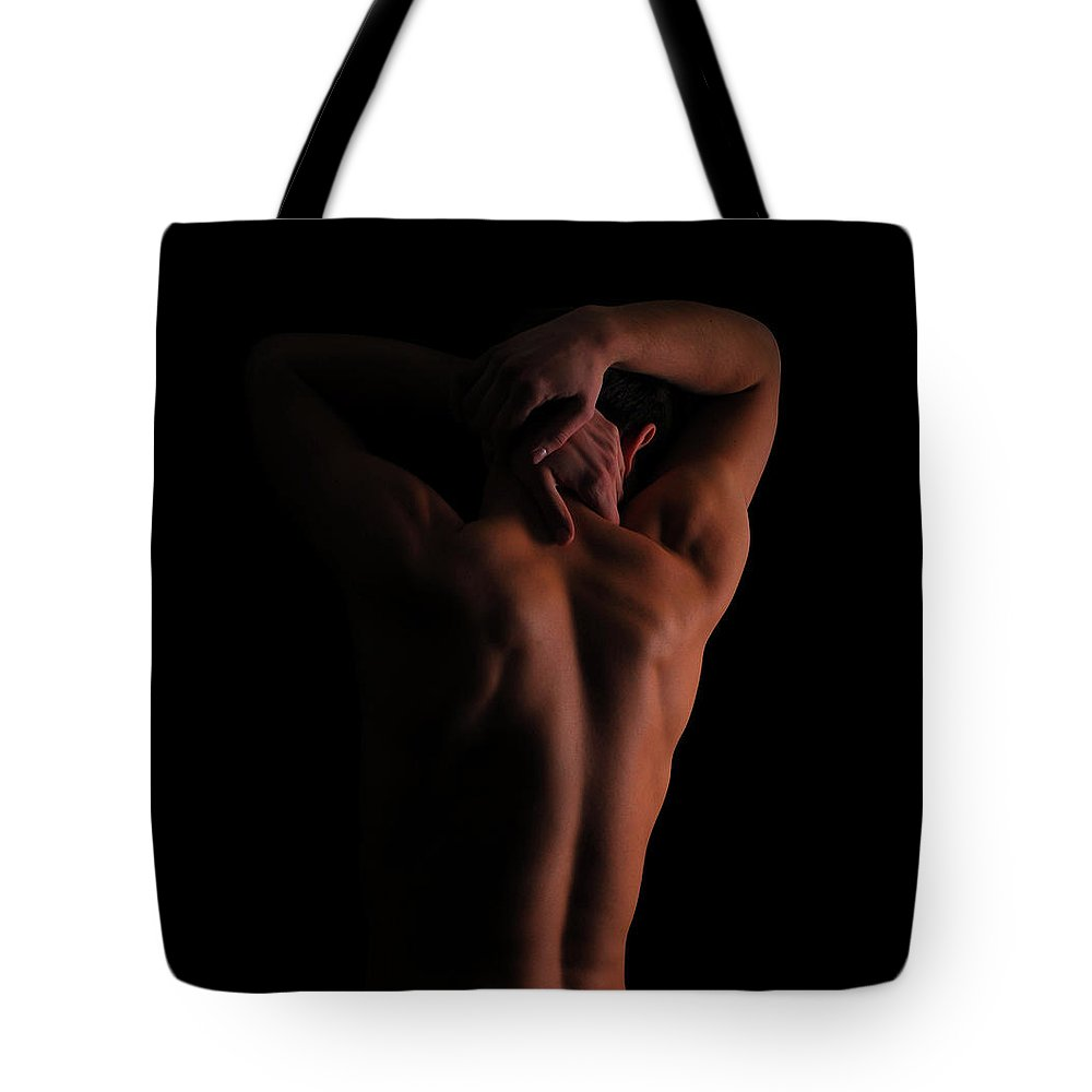 Shadow Tote Bag featuring the photograph Fitness Man by Maxrale