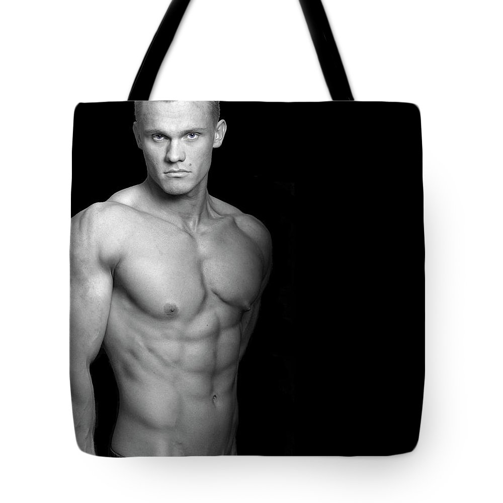Cool Attitude Tote Bag featuring the photograph Fitness Portrait by Ragnak