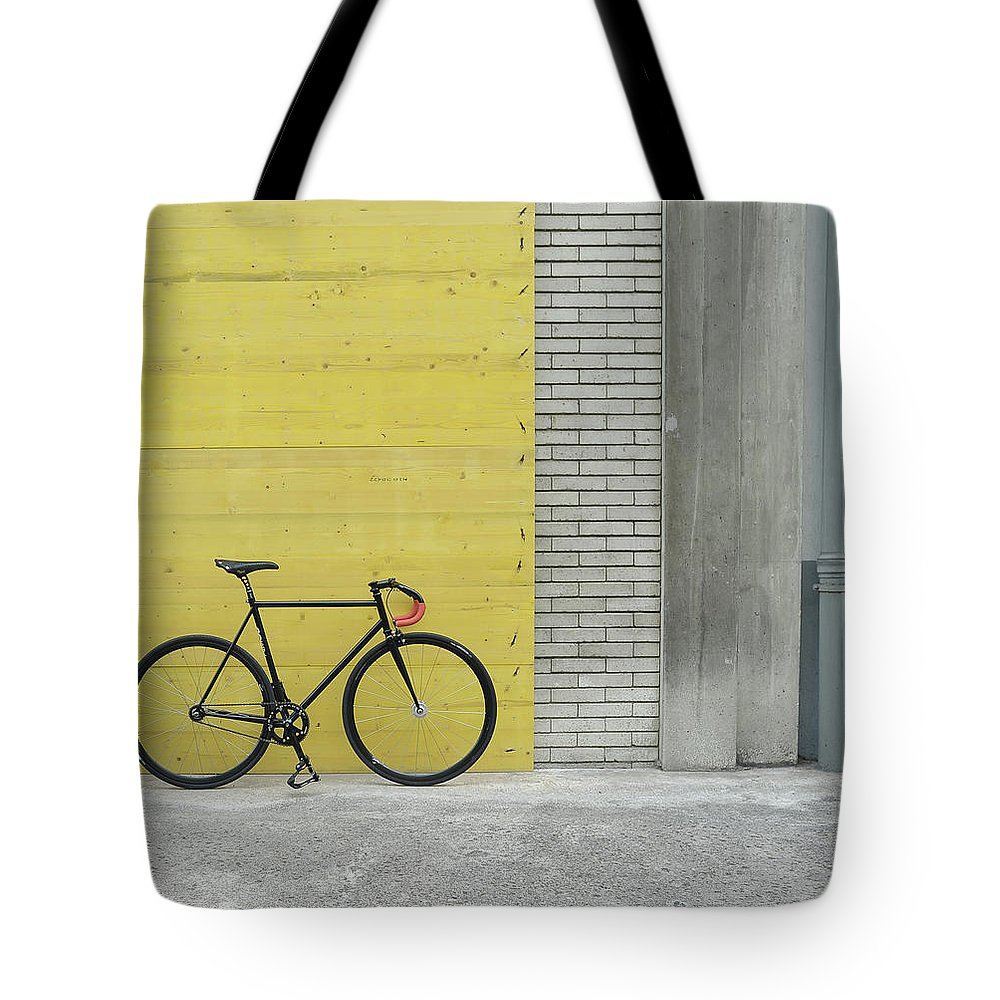 Tranquility Tote Bag featuring the photograph Fixie by Gaëtan Rossier - Switzerland