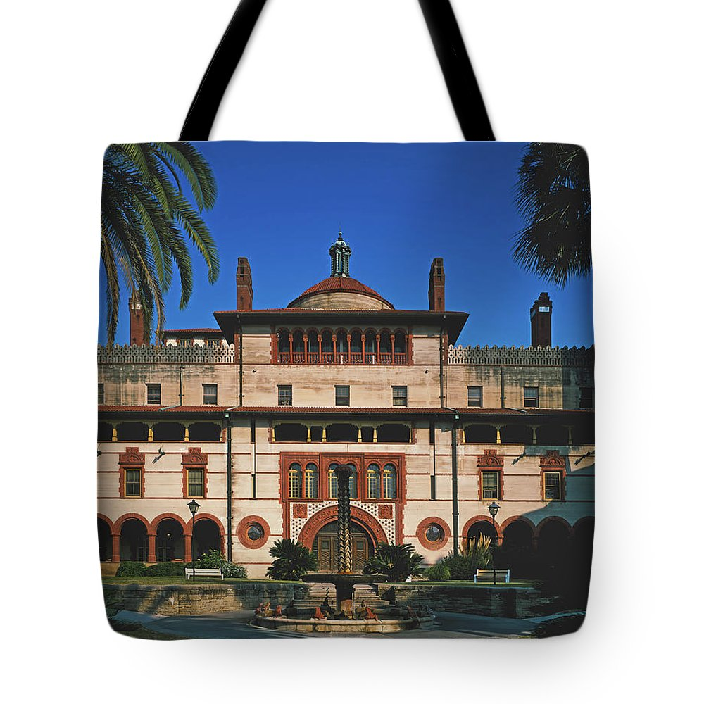 Flagler College Tote Bag featuring the photograph Flagler College - St Augustine, Florida by Mountain Dreams