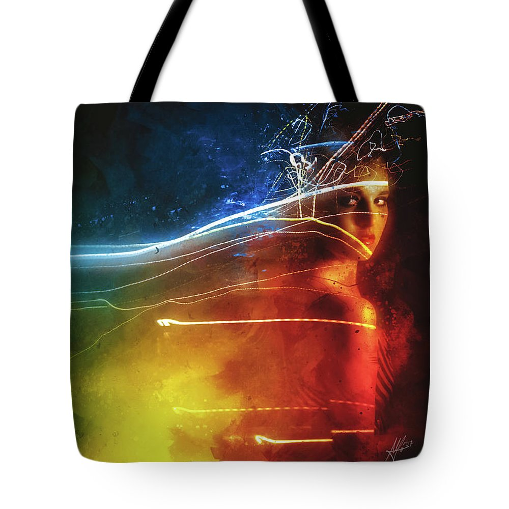Souvenirs Digital Art Tote Bags