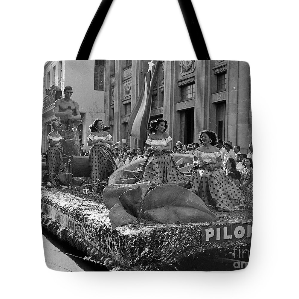 Float Tote Bag featuring the photograph Float Maidens by Venancio Diaz