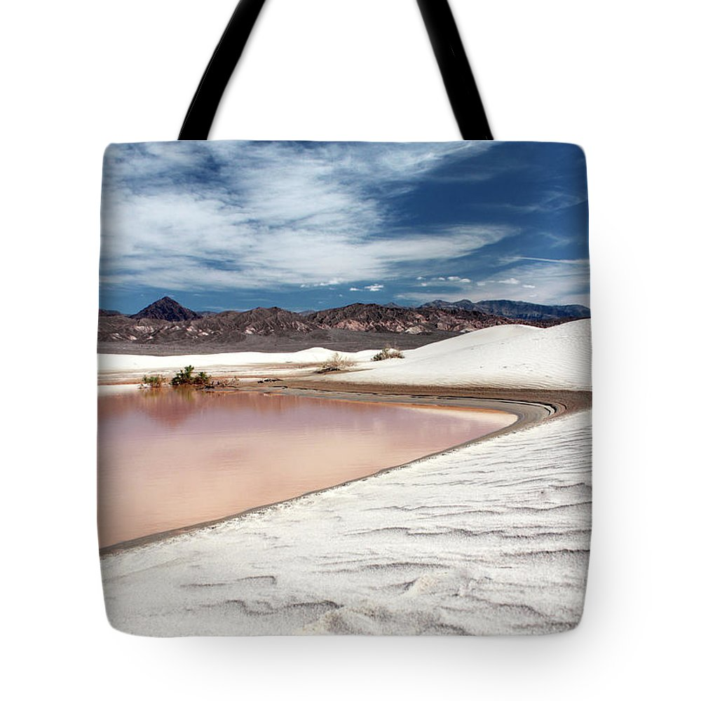 Sand Dune Tote Bag featuring the photograph Flooded Dunes At Death Valley National by Gary Koutsoubis