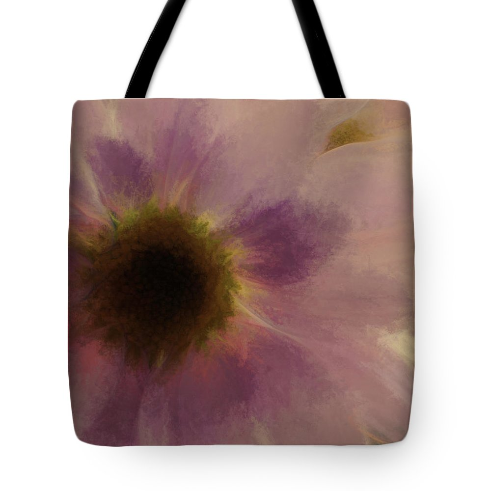 Flowers Tote Bag featuring the digital art Floral Impressions Lix by Tina Baxter