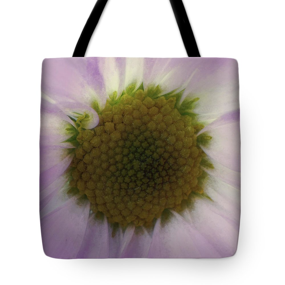 Flowers Tote Bag featuring the digital art Floral Impressions Lv by Tina Baxter